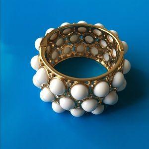 White metallic bracelet